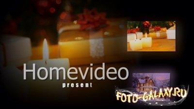 Видео заставка для начала новогоднего