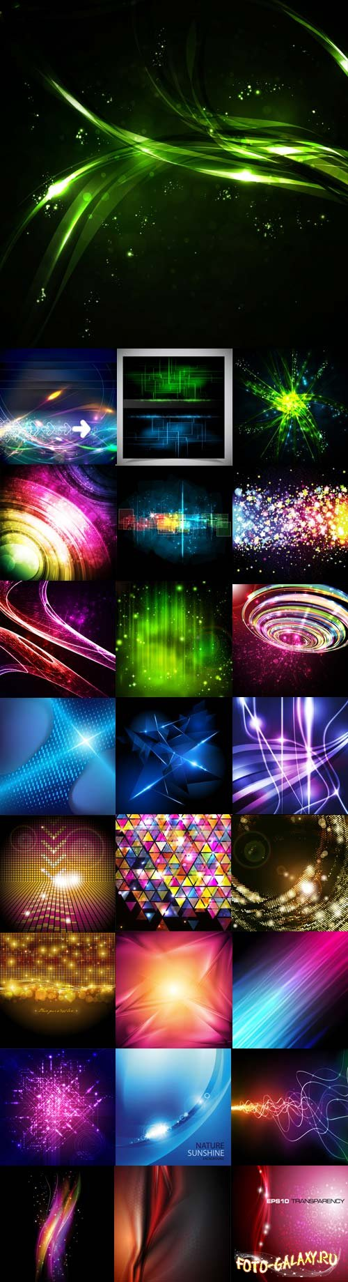 Bright colorful abstract backgrounds vector  - 2