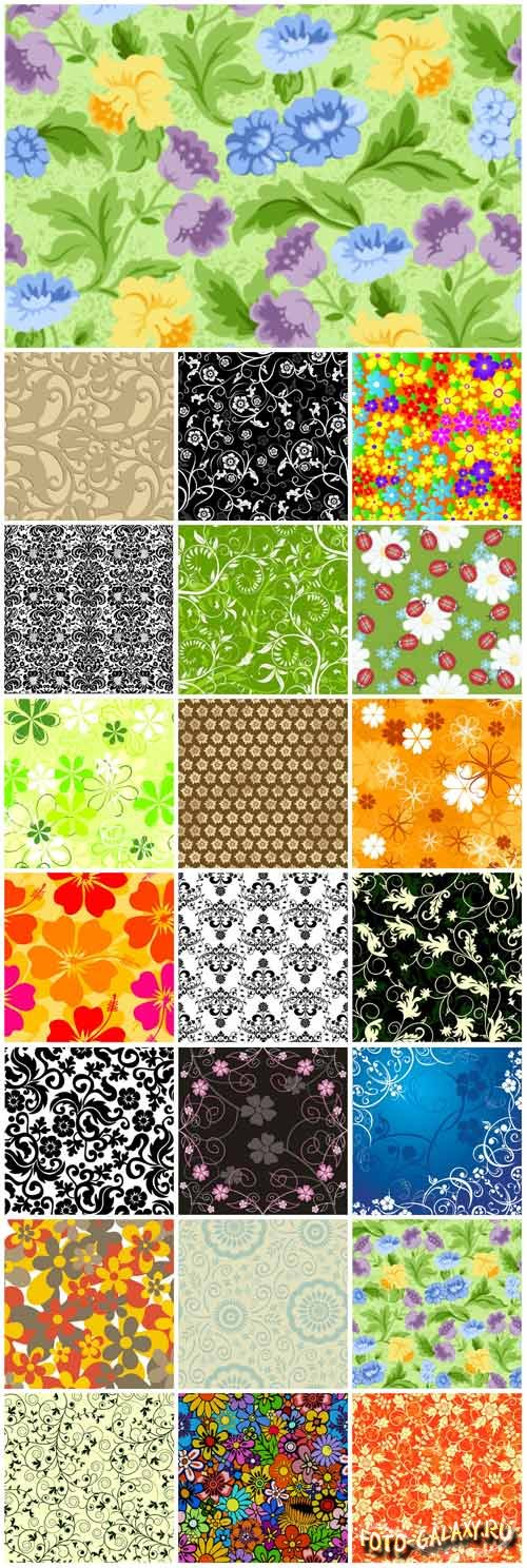 Floral patterns backgrounds stock vector - 3