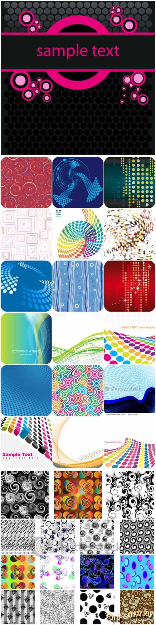 Abstract patterns backgrounds stock vector - 2