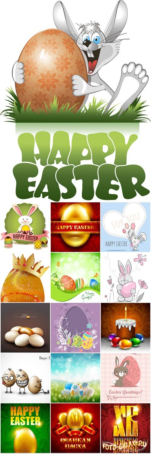 Easter backgrounds and cards vector - 3
