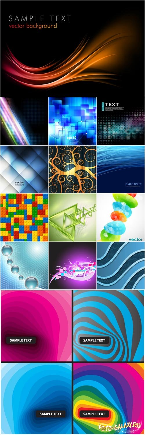 Bright colorful abstract backgrounds vector - 4