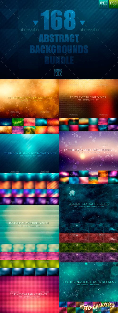 Graphicriver - 168 Abstract Backgrounds Bundle 11351191