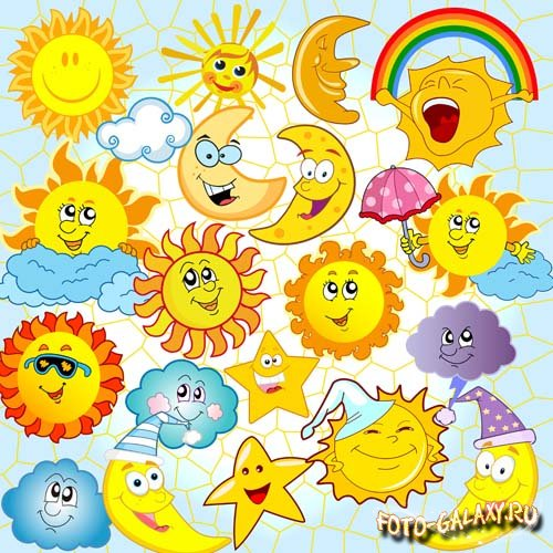 Солнце с радугой картинки для детей
