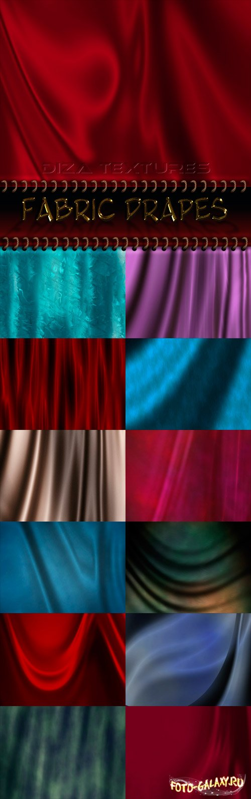 Fabric drapes textures