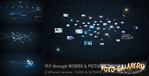Fly through Words & Images Opener - Project for After Effects (Videohive)