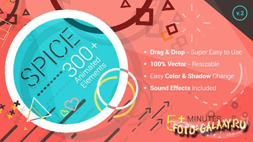 SPICE - 300+ Animated Elements - Project for After Effects (Videohive)