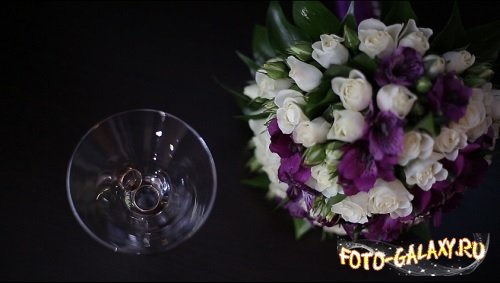 Rings and flowers wedding video footage