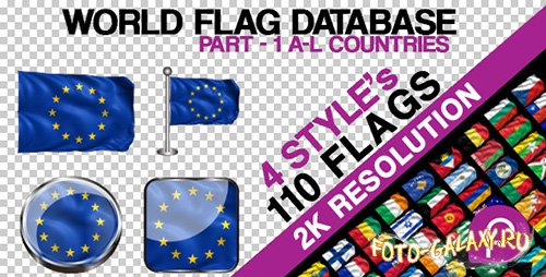 2K World Flag Database Part-1 - Project for After Effects (Videohive)