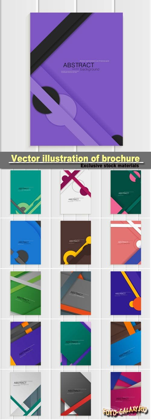 Stock vector illustration of brochure in material design style