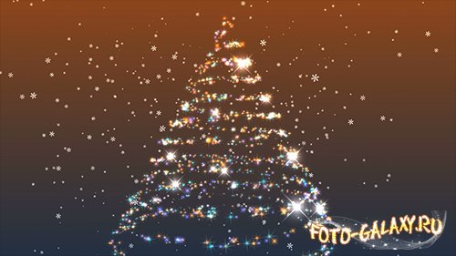Spinning sparkling Christmas tree HD
