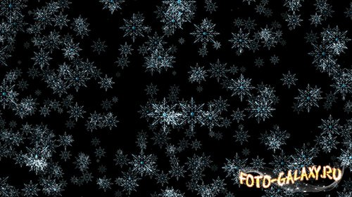 Rotating snowflakes background HD