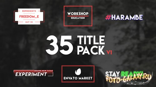 35 Typography Title - Project for After Effects (Videohive)