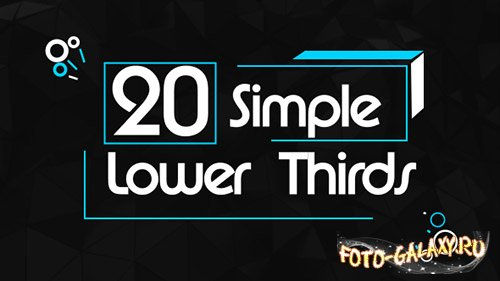 20 Simple Lower Thirds - Project for After Effects (Videohive)