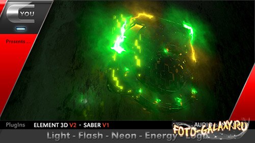 Light Flash Neon Energy Logo - Project for After Effects (Videohive)