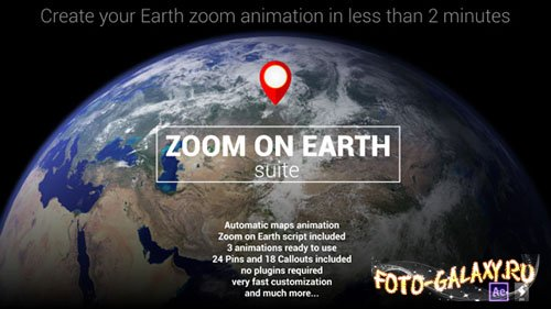 Zoom On Earth Suite - Project for After Effects (Videohive)
