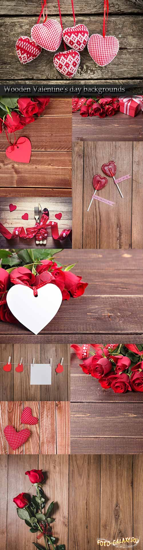 Wooden Valentine's day backgrounds