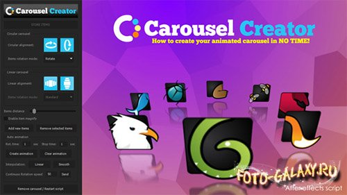 Carousel Creator - After Effects Scripts (Videohive)