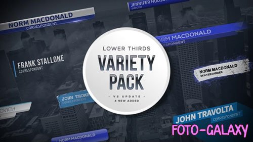 Lower Thirds Variety Pack - Project for After Effects (Videohive)