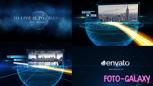 Earth line And Postcard Opener - Project for After Effects (Videohive)