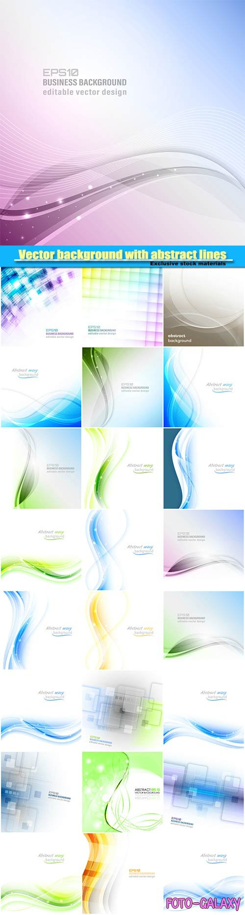 Vector background with abstract lines