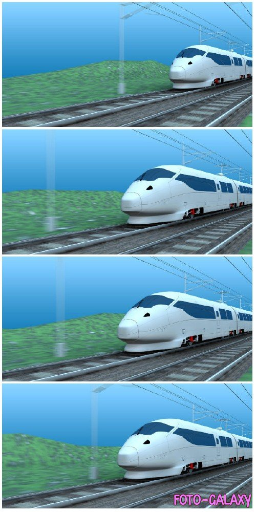 Video footage High speed rail