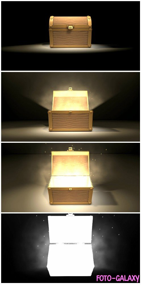 Video footage Magical box, zoom-in animation