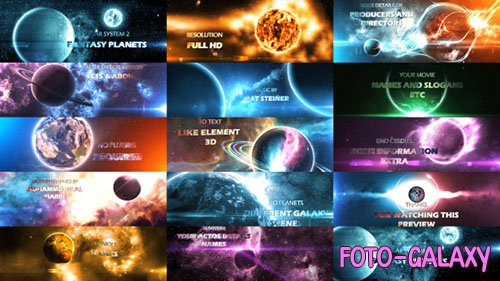 Solar System 2 ( Fantasy Planets ) 8K - Project for After Effects (Videohive)