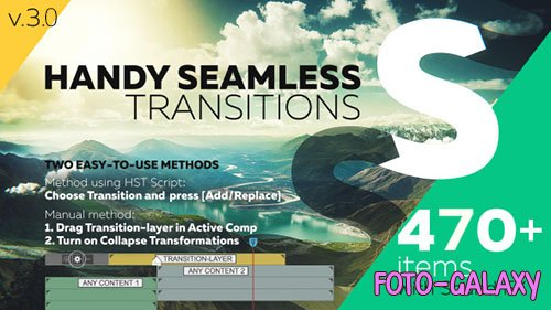 Handy Seamless Transitions | Pack & Script v.3.0 - After Effects Script (Videohive)