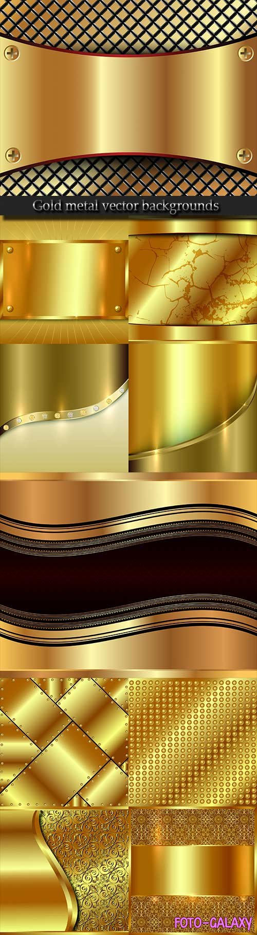 Gold metal vector backgrounds