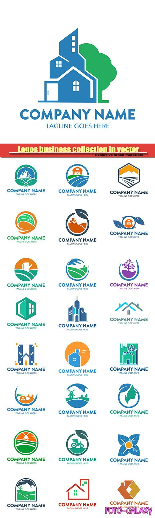Logos business collection in vector #28