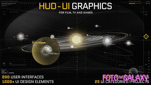 HUD - UI Graphics for FILM, TV and GAMES - Project for After Effects (Videohive)