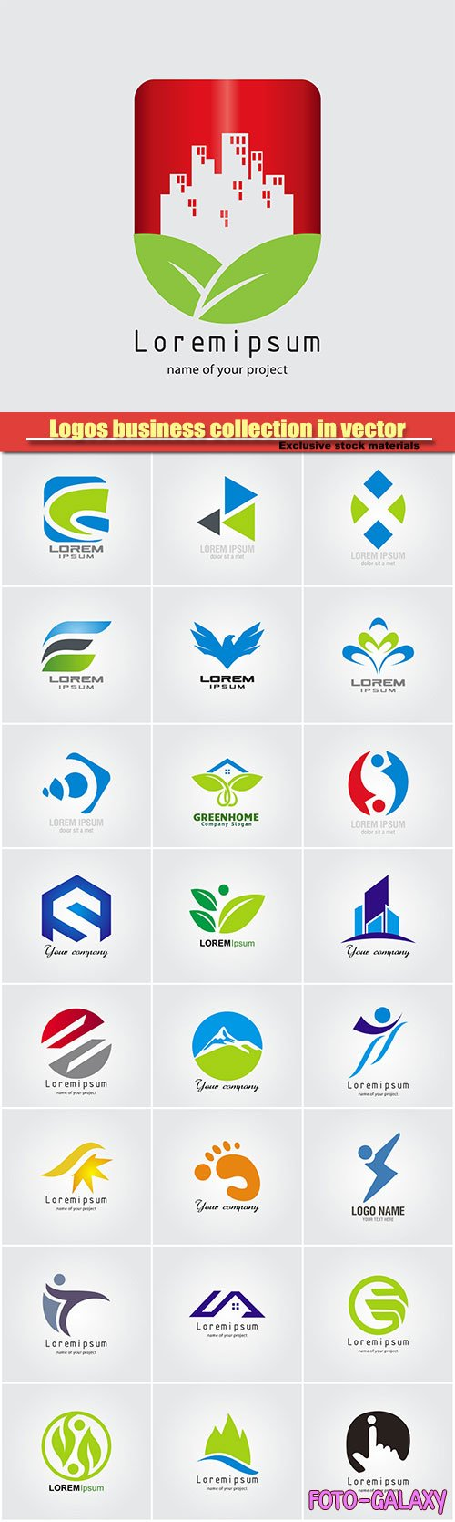 Logos business collection in vector #31
