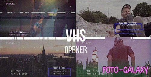 VHS Opener // Modern Glitch Slideshow - Project for After Effects (Videohive)