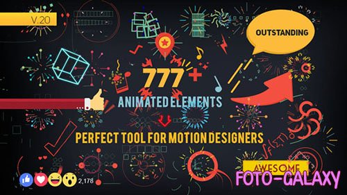 Shape Elements V2.0 - Project for After Effects (Videohive)