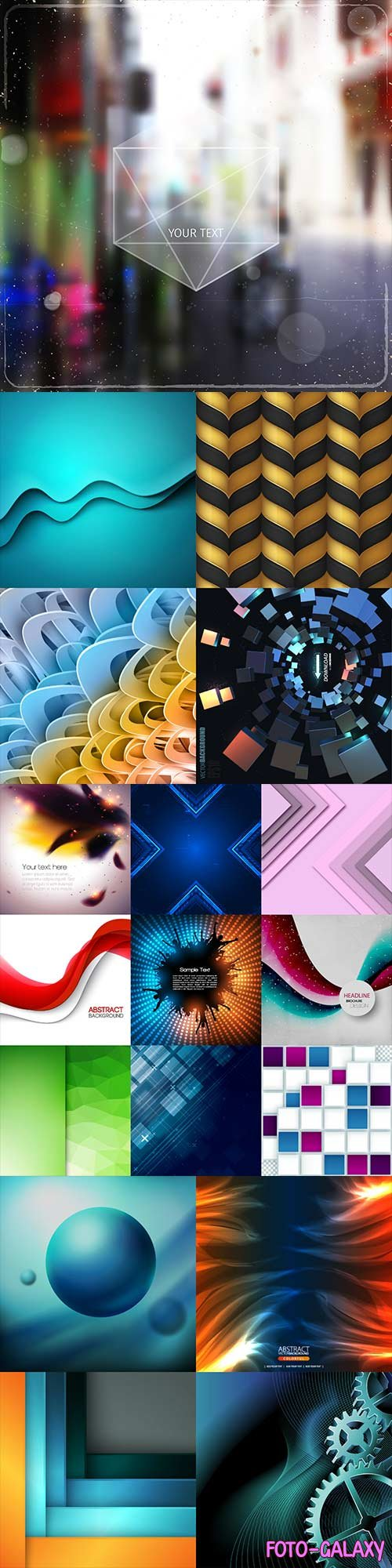 Bright colorful abstract backgrounds vector - 77