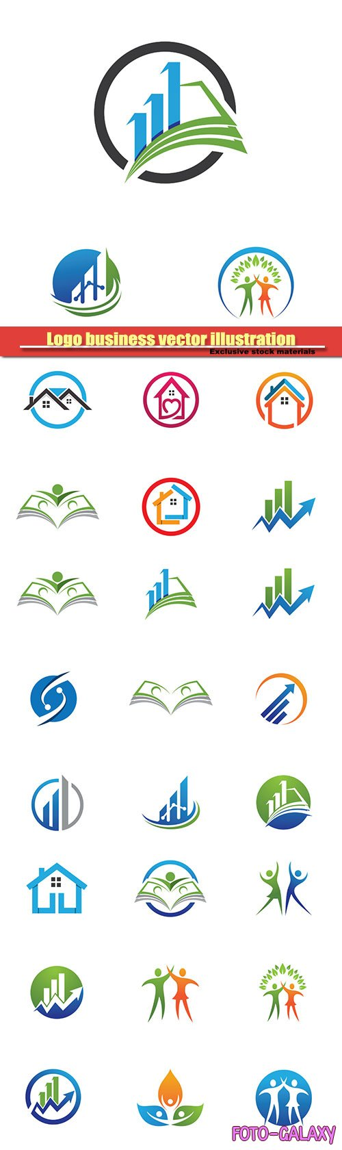 Logo business vector illustration #31