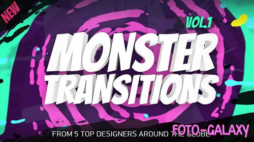 125+ Monster Transitions - Project for After Effects (Videohive)