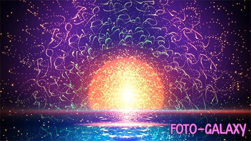 Particle Sunset Waves