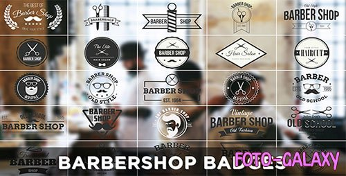 Barbershop Badges - Project for After Effects (Videohive)