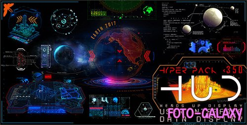 HUD Hyper Pack 350 - Project for After Effects (Videohive)