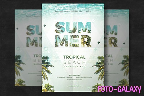 Creative summer flyer