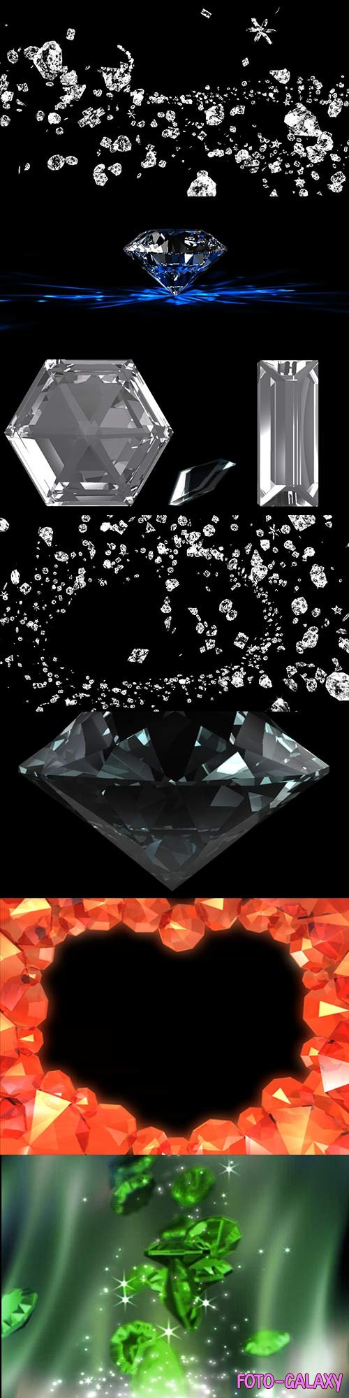 11 Video footage of precious stones, diamonds