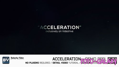 Acceleration // Demo reel - Project for After Effects (Videohive)