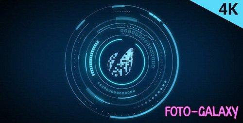 Hud Tech Logo - After Effects Template