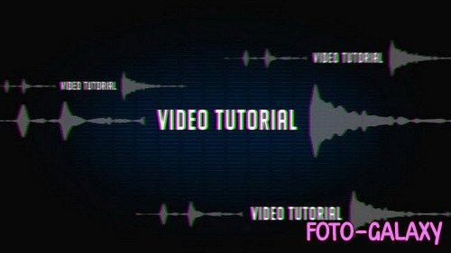 Sound Glitch Logo Intro - After Effects Template