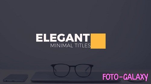 Elegant Minimal Titles 39503 - After Effects Templates