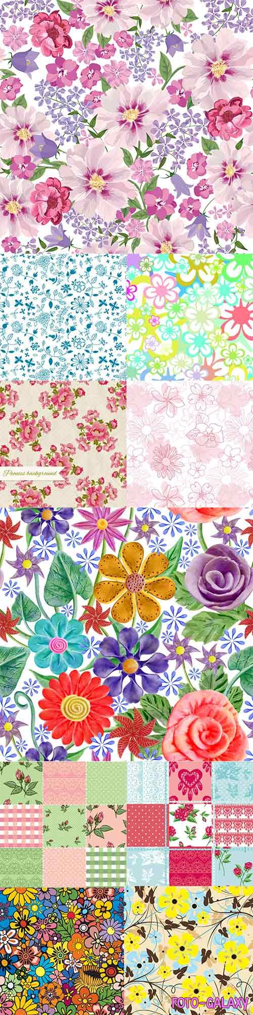 Floral vector patterns