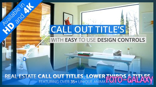 Real Estate Call Out Titles, Lower Thirds & Title Pack | HD/4K - Project for After Effects (Videohive)