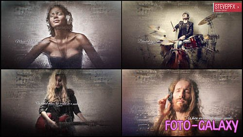 Music Notes Slideshow - Project for After Effects (Videohive)